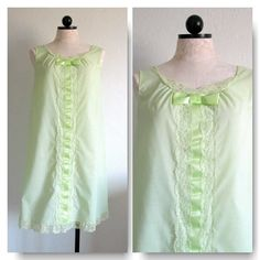 Sears Roebuck and Co. Perma- Prest Vintage 1960's Lime Green Nightgown Size 32-34 Made in U.S.A. from Vintage.com, $35.00