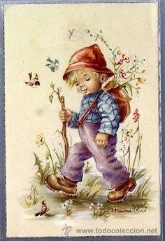 Niño caminando por el campo Ilus.Nuria Baró