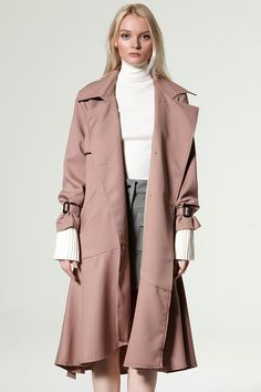 Rosa Ruffle Trench Coat Discover the latest fashion trends online at storets.com
