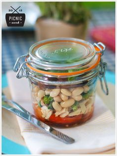 Recipe for a Nicoise Salad To Go in a mason jar, for Picnic Week on Camille Styles