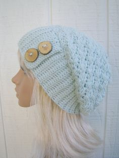 Crochet Slouch Hat etsy ladies hat teenager hat by HookMadness, $32.00