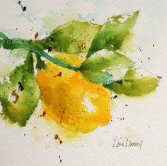 limoni, lemon, yellow, fruit, watercolor, painting, fine art, Lisa Livoni, Napa Valley artist