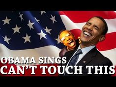 """i saw this in a bar the other night and couldnt stop laughing.... Obama sings """"Can't touch this"""" by MC Hammer .... SO FUNNY"""