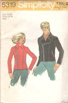 Simplicity 5319 1970s Mens MOD Jacket Pattern by mbchills on Etsy