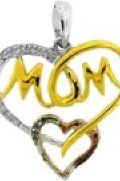 """0.07CTW DIAMOND """"MOM"""" PENDANT     Metal Type - 925WP     Metal Weight(gms) - 1.89 (approx.)      GD-52274    http://www.thesgdex.com"""