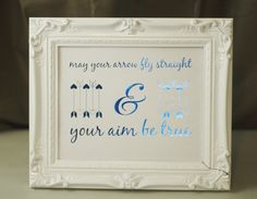 May Your Arrow Fly Straight Foil Print