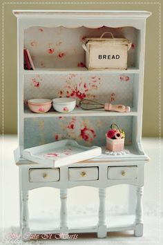 miniature shabby kitchen hutch