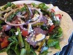 Purple Chocolat Home: Steak and Blue Cheese Salad - Main Dish Salad