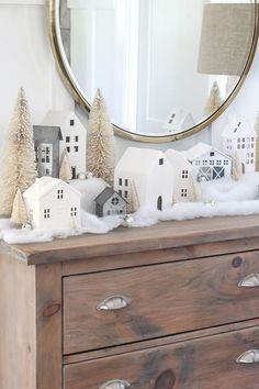 Best of Farmhouse Christmas Mantels awaits you! You are going to be totally inspired by the creativity your are about to see! Tons of Ideas you will love! time christmas village Best of Farmhouse Christmas Mantels - The Cottage Market Farmhouse Christmas Decor, Rustic Christmas, Christmas Home, Christmas Holidays, Christmas Movies, Christmas Trees, Victorian Christmas, Pink Christmas, Diy Christmas Village