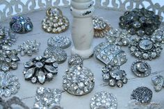 cherished*vintage: Old Rhinestone Buttons