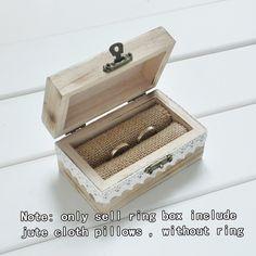 Gepersonaliseerde gift rustieke bruiloft ringkussen box custom uw namen en graveren hout trouwring box
