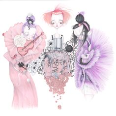 Illustration.Files: Viktor & Rolf Flowerbomb Fashion Illustration by Camille Pfister