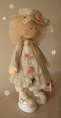 Коллекционные куклы ручной работы. Ярмарка Мастеров - ручная работа Кукла текстильная Anne ПРОДАНА. Handmade. Pretty Dolls, Cute Dolls, Beautiful Dolls, Doll Crafts, Diy Doll, Fabric Dolls, Paper Dolls, Doll Toys, Baby Dolls