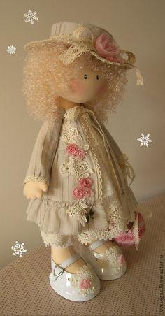 Коллекционные куклы ручной работы. Ярмарка Мастеров - ручная работа Кукла текстильная Anne ПРОДАНА. Handmade.