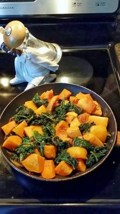 Kale with Squash and onion