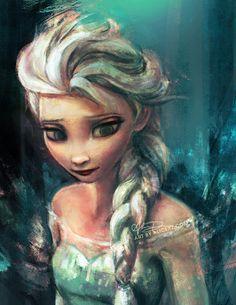 Elsa, The Snow Queen from Frozen by Alice X Zhang Disney Pixar, Disney Amor, Arte Disney, Disney And Dreamworks, Disney Love, Disney Magic, Disney Animation, Disney Rapunzel, Disney Stuff
