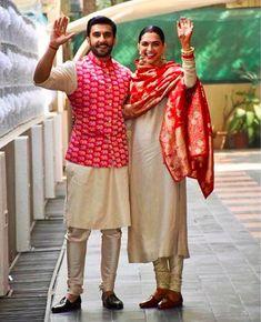 Ranveer Singh-Deepika Padukone wedding: Sikh body upset over Anand Karaj performed outside gurdwara Mens Indian Wear, Indian Groom Wear, Indian Men Fashion, Mens Wedding Wear Indian, Ladies Suits Indian, Mens Fashion, Indian Bridal, Street Fashion, Wedding Dress Men