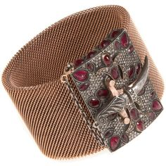 Sevan Bicakci Ruby & Diamond Mesh Bracelet with Dagger