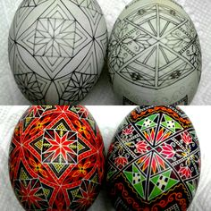 Ramping up to make more pysanky at The Illustrated Egg! Egg Crafts, Easter Crafts, Christmas Crafts, Ukrainian Easter Eggs, Ukrainian Art, Polish Easter, Cultural Crafts, Carved Eggs, Easter Egg Designs