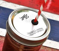 Turn a Mason Jar Into a Spillproof Cup with a Straw! by littlebitfunky