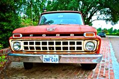 I want to restore and old Ford truck someday...paint it bright red!