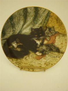 Cat Plate Midday Repose Artist Henriette Ronner Victorian Cat Plate