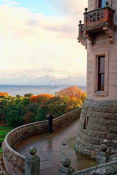 Garden and North Sea view from Dunrobin Castle ~ Sutherland, Scotland