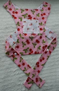 Reversible doll carrier with cherry pattern cotton by SewandSteady