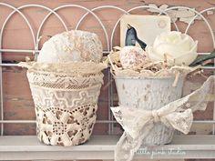 peat pot baskets...a little peek into the March Little Pink Box