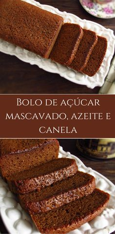 Bolo de açúcar mascavado, azeite e canela | Food From Portugal. Com o inverno e o frio, bebidas quentes e um bolo caseiro são sempre uma boa solução para um lanche em família! Prepare este bolo de açúcar mascavado, azeite e canela e acompanhe com uma chávena de café bem quente! Bom apetite! #bolo #azeite #canela #receita