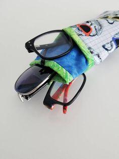 Glasses Case Magic World Watercolor Unicorn Portable Soft Sunglasses Pencil Bag Protective Purse