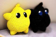 Super Mario Brothers / Mario Galaxy: Luma Crochet Dolls