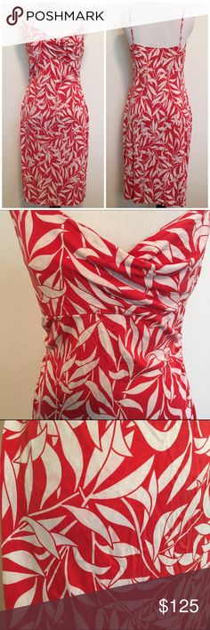 🎉SALE🎉DVF Vintage Red/White Silk Drape Neck Drss Diane Von Furstenberg Vintage 100% silk red and white tropical print strappy dress with a draped neck. Size 8. Measurements upon request. Knee length. Excellent condition. Dry clean only. ❌ NO TRADES ❌ NO LOWBALLING ❌ Diane von Furstenberg Dresses Midi