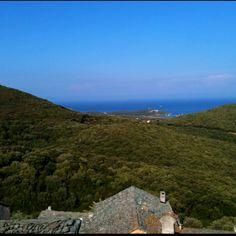 The village of Bettolacce, Rogliano. Northern Corsica