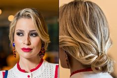 Carol Brum (27), blogueira e ex-modelo, aposta no cabelo preso para compor o look