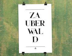 Wanddeko - 彡 einwort print | zauberwald - ein Designerstück von claus-peter-2 bei DaWanda