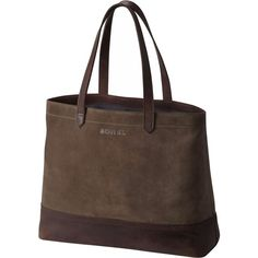 Sorel Suede Tote (2.115 DKK) ❤ liked on Polyvore featuring bags, handbags, tote bags, tote purses, laptop purse, brown suede handbag, tote handbags and carryall tote