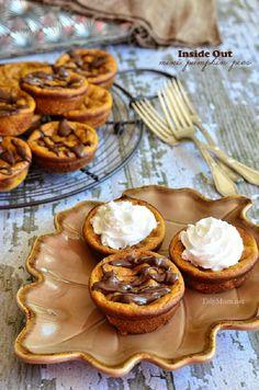 """Inside Out Mini Pumpkin """"Pies"""", 17 different mini ideas, lemon meringue pie, chicken pot pie"""
