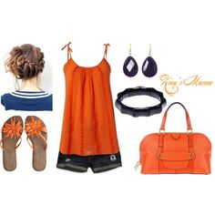 Easy Orange, created by zionsmama on Polyvore