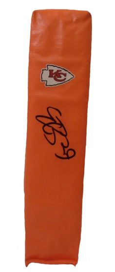 Eric Berry Autographed Kansas City Chiefs Full Size Football End Zone Touchdown Pylon. This is a brand-new custom Eric Berry signed Kansas City Chiefs full size football end zone pylon.  This pylon measures 4 inches (Width)  X 4 inches (Length) X 18 inches (Height).  Eric signed the pylon in black sharpie. Check out the photo of Eric signing for us. ** Proof photo is included for free with purchase. Please click on images to enlarge. Please browse our website for additional NFL & NCAA…