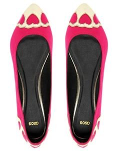 ASOS Loveheart Toe Cap Ballerina >> Ohh, so cute for Valentine's day (and every other day too)!
