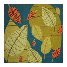 DH3838 Falling Leaves -- Elements needlepoint design from Dream House Ventures