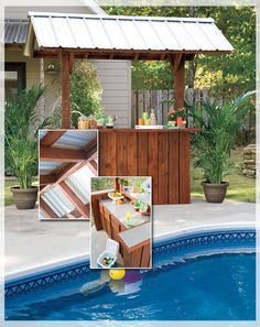 I love TIKI bars!! Might have to try to build one!