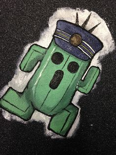Train conductor Cactaur from the World of Final Fantasy - Griptape Art