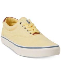 7c7bf584a8a8e Polo Ralph Lauren Men s Thorton Mesh Low-Top Sneakers - Banana Peel 9 Men S