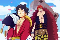Luffy and Eustass Kid (One Piece Ch. by bryanfavr on DeviantArt Ace One Piece, One Piece Chapter, One Piece Ship, One Piece Luffy, Blade Runner, Kaido One Piece, Fruit Du Demon, Devian Art, 0ne Piece
