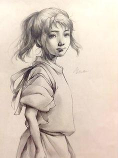 Spirited Away - Chihiro Studio Ghibli Art, Studio Ghibli Movies, Hayao Miyazaki, Totoro, Chihiro Y Haku, Film Studio, Howls Moving Castle, Animation, Manga Drawing