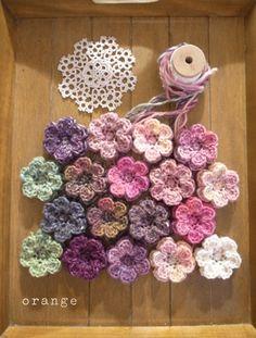 just a bunch of crochet flowers...:)