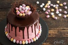Strawberry Easter Cake :: Home Cooking Adventure