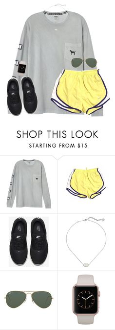 """stop wishing start doing"" by kaley-ii ❤ liked on Polyvore featuring NIKE, Kendra Scott and Ray-Ban"